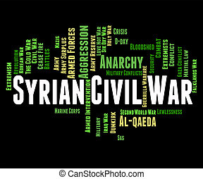 rappresenta, civile, assad, azione, militare, siriano, ...