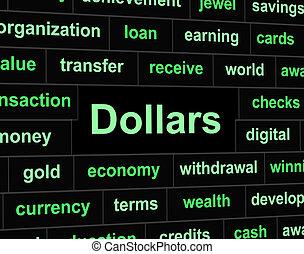 rappresenta, unito, dollari, stati, americano, finanze