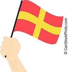 rappresentare, marittimo, lettera, bandiera, vettore,...