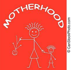 rappresentazione, maternità, comico