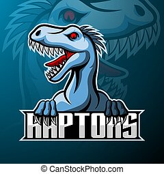 raptor, デザイン, ロゴ, マスコット, esport