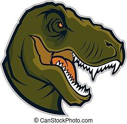 Raptor head mascot