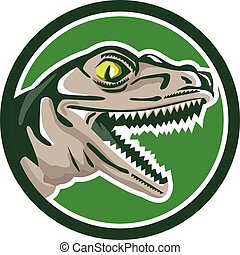 Raptor Head Side Circle Retro