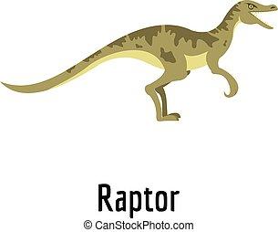 Raptor icon, flat style.