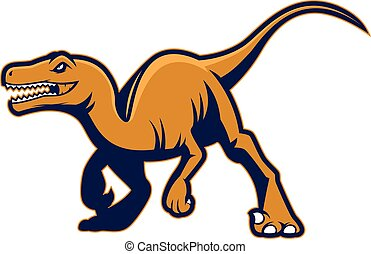 Raptor mascot - Clipart picture of a raptor cartoon mascot...