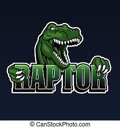 cartoon raptor - raptor mascot,cartoon raptor,dinosaur...