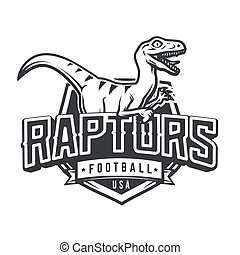 Raptor sport logo mascot design. Vintage college team coat...