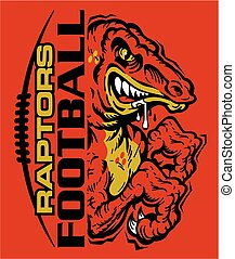 raptors football team design with laces and half mascot for ...