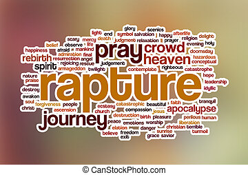 Rapture word cloud with abstract background - Rapture word...