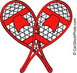 raqueta, arte, clip