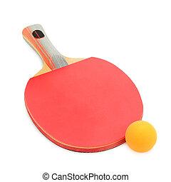 raqueta, juego, pelotas, ping-pong