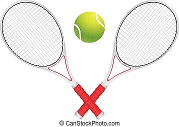 raqueta, pelota de tenis