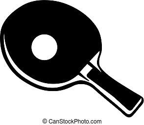 raqueta, pong, ping