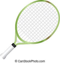 raqueta, tenis, menor