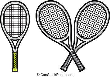 raquete, tênis