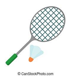 raquette, badminton, icône