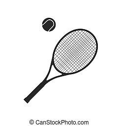 raquette, boule tennis