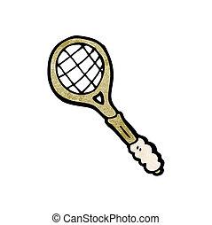 raquette, tennis, dessin animé