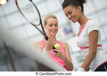 raquette, tennis, prise, bon