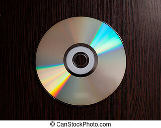 rare CD with music on a dark background