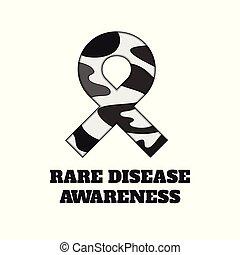 Rare disease awareness papercut ribbon
