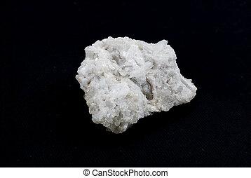 rare white quartz crystals stone