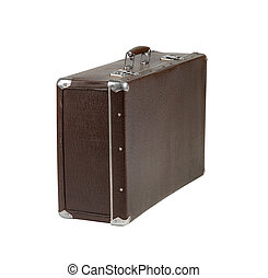 rarity brown leather suitcase - retro brown leather suitcase...