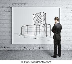 rascacielos, en el escritorio