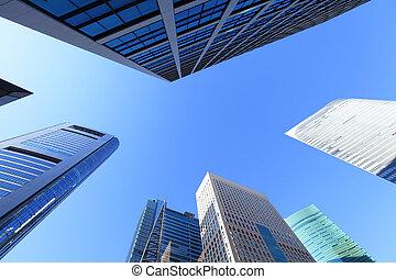 rascacielos, en, shinjuku