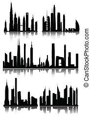 rascacielos, plano de fondo