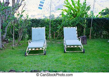 rasen- stuhl, kleingarten, leicht