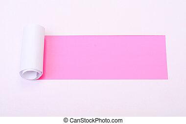 rasgado, blanco, papel, con, espacio, para, texto
