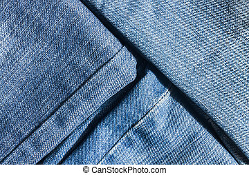 rasgado, calças brim, pieces., mopped, close-up, textura