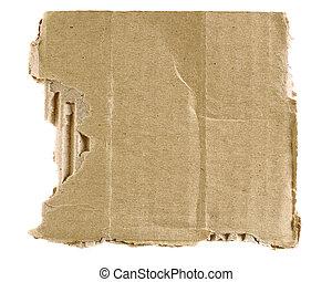 rasgado, cartón, textured
