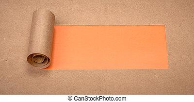 rasgado, papel, con, espacio, para, texto