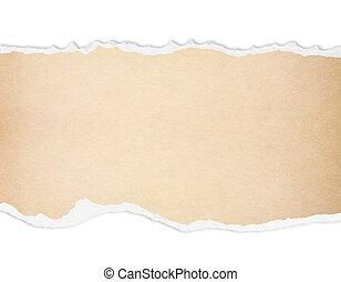 rasgado, papel, con, libre, espacio, para, texto