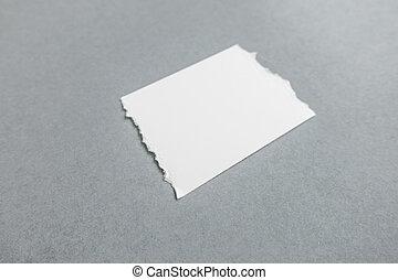 rasgado, pedaços, de, papel, com, macio, shadows.