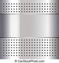 rasguñado, en, cromo, metal, plano de fondo, 10eps