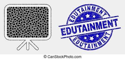 rasguñado, estampilla, pixelated, vector, tabla, icono, bandera, edutainment