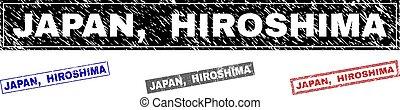 rasguñado, grunge, filigranas, japón, hiroshima, rectángulo