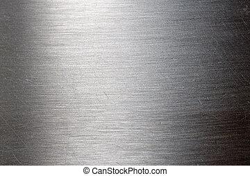 rasguñado, metal, textura