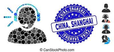 rasguñado, operador, china, mosaico, mensaje, shanghai,...