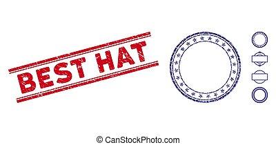 rasguñado, redondo, sombrero, mosaico, marco, estampilla, ...