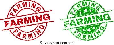 rasguñado, utilizar, redondo, textura, sellos, agricultura