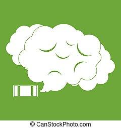 rasgue gás, ícone, verde