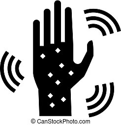 rash hand glyph icon vector illustration