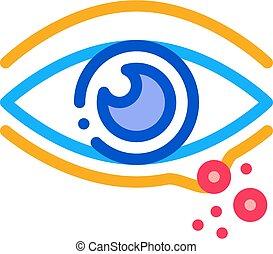 rash near eye icon vector outline illustration