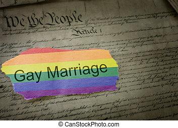 rask, ægteskab, regnbue, nyhed, overskrift