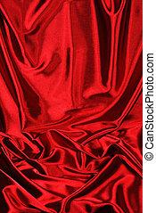 raso, fondo rojo