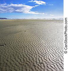 raso, praia, arenoso